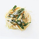 Spaghetti with sage butter and Parmesan