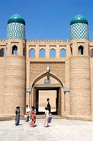 Uzbekistan, Khiva, entrance of the Kukhana Ark
