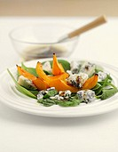 Salad of baked pumpkin and Gorgonzola