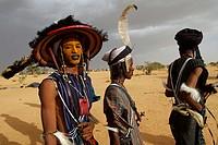 Wodaabe-Bororo men. Gerewol festival. Niger.