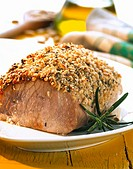 Loin of pork with pine nuts and rosemary