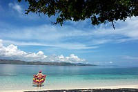 Phillipines, Busuanga, woman standing in water, rear view