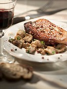 Pork chop with ceps