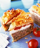 Minced meat pie with filo pastry 1