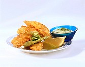 Crispy chicken with dip