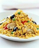 Vegetable rice with mushrooms