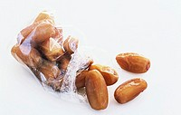 A bag of dried dates
