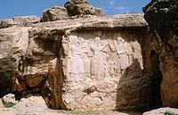 Sassanid period. Xerxes investiture relief (IIIrd century). Naqsh-E Rustam. Iran.