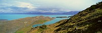 Panoramic view of Argentina's largest lake, Argentina