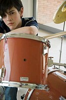 Teenage Boy at the Drums