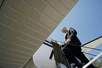 Businessman Entering His Private Jet