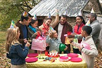 Guests at Outdoor Birthday Party