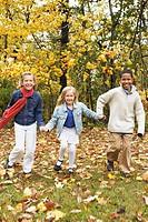 Three Children Walking Holding Hands