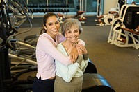 Mother and Daughter at a Health Club