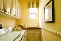 Traditional Cabinets in Laundry Room