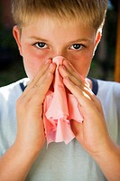 Boy Blowing Nose (thumbnail)
