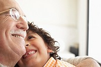 Grandfather and Grandson Hugging (thumbnail)