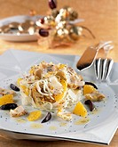 White cabbage, orange and grilled red mullet salad - Recipe of Guy Martin - Le Grand Véfour Restaurant - Paris - France