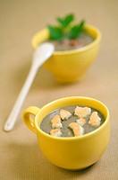 French green lentil cream soup