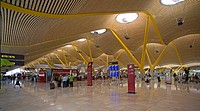 Spain, Europe, airport Madrid_Barajas, airport terminal 4, moulder, architecture