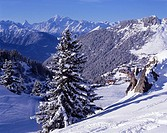 village, Riederalp, winter, Aletsch, mountains, snow, scenery, landscape, Valais alps, Matterhorn, Weisshorn, White ho