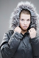 Woman wearing a winter jacket