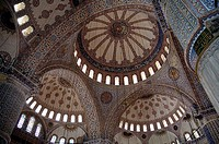 The ceiling of the blue mosque in Istanbul, Turkiet 2006