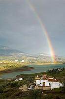 Reservoir, Viñuela. Axarquía, Costa del Sol. Málaga province, Andalusia, Spain