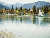 Germany, Bavaria, Tegernsee and mountains