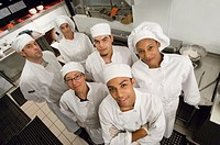 Team of chefs, portrait, elevated view