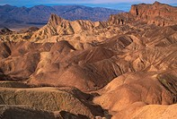 USA, California, Death Valley National Park, Zabriske Point at sunset