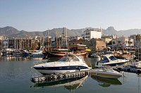 Cyprus, Kyrenia Girne, moored boats in harbour