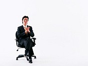Businessman sitting on chair