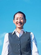 Business woman in corporate uniform