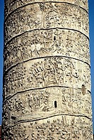 Close_up of carvings on column, Trajan´s Column, Trajan´s Forum, Rome, Italy