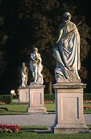 Sculptures in park, Nymphenburg Palace, Munich, Bavaria, Germany