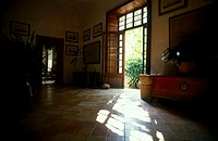 Interior of museum, Alfabia Garden, Majorca, Balearic Islands, Spain