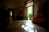 Interior of museum, Alfabia Garden, Majorca, Balearic Islands, Spain