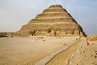 Step pyramid of Djoser at Saqqara necropolis by Imhotep. Egypt