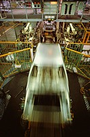 High angle view of a production line, Zama, Kanagawa Prefecture, Japan