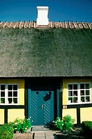 Facade of a cottage, Funen County, Denmark