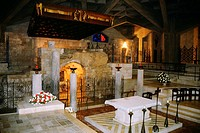Interiors of a basilica, Basilica Of The Annunciation, Nazareth, Israel