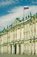 Facade of a palace, Winter Palace, Hermitage Museum, St  Petersburg, Russia