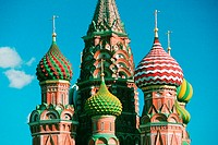 High section view of a cathedral, St  Basil's Cathedral, Red Square, Moscow, Russia