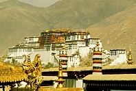 Palace on a hill, Potala Palace, Lhasa, Lhasa Valley, Tibet, China