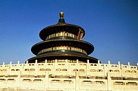 Low angle view of a temple, Temple of Heaven, Forbidden City, Beijing, China