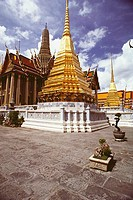 Low angle view of a temple, Wat Phra Kaeo, Grand Palace, Bangkok, Thailand