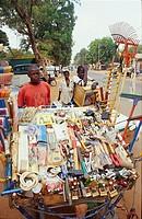 africa, burkina faso, vendors in ouagadougou