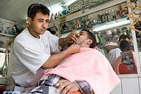 asia, arabian peninsula, yemen, sana´a, market in the old town, the barber
