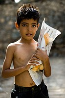 asia, arabian peninsula, yemen, sana´a, little boy in the old town